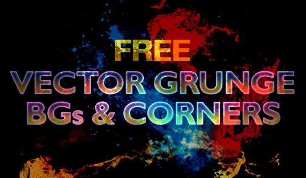 Download free vector grunge splatter backgrounds and corners