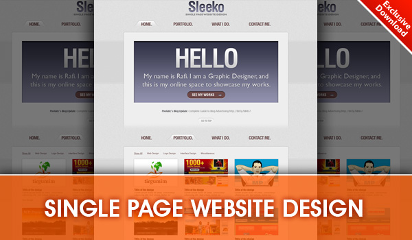 Sleeko- Download single page website design