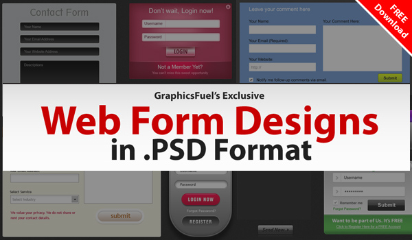 9 beautiful web forms for free download