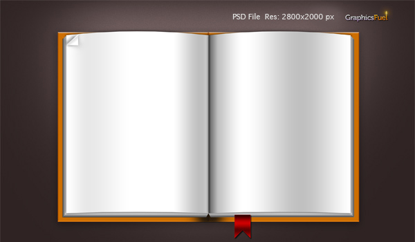 download blank book template psd file icons graphicsfuel