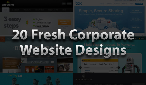 20 fresh corporate website designs for your design inspiration