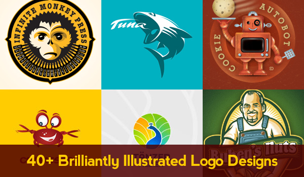 40+ brilliantly illustrated logo designs
