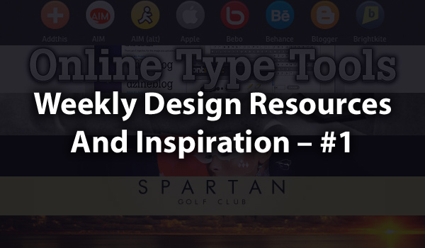 Weekly design resources and inspiration &#8211; #1