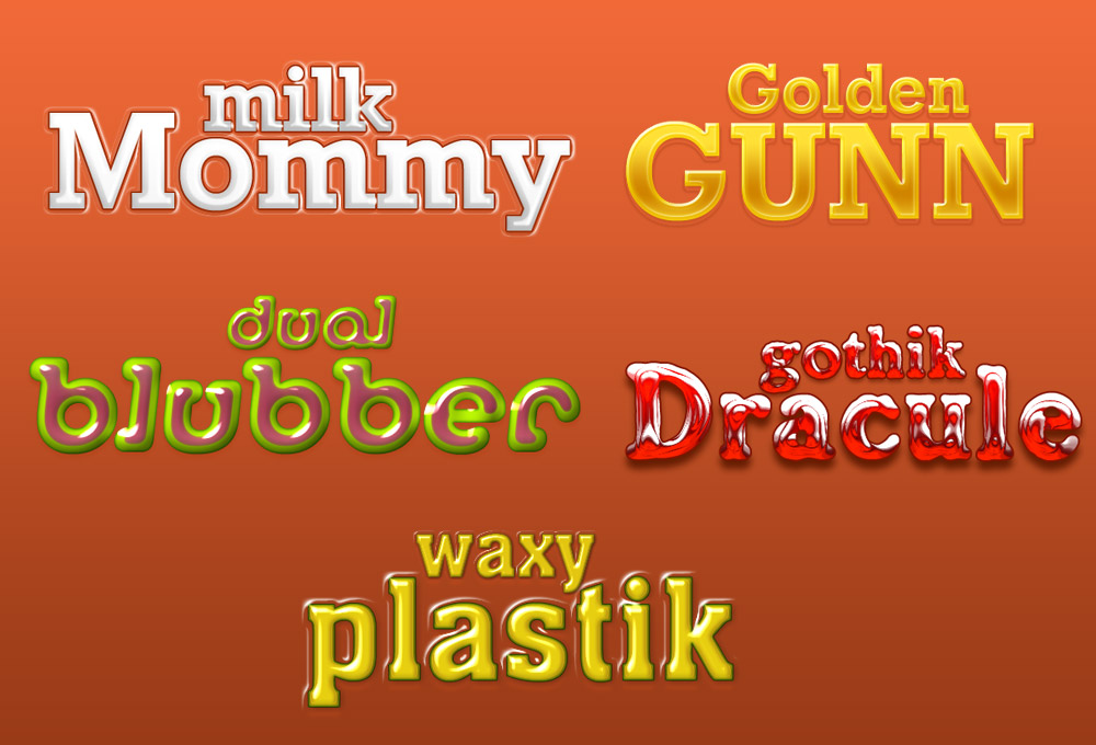 Striking Photoshop text effects (PSD download)