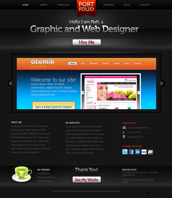 Portfolio Site Examples: Creative Portfolio Website PSD Template