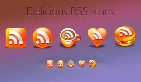 Deliciously brilliant RSS icons pack (Download PSD & PNG)