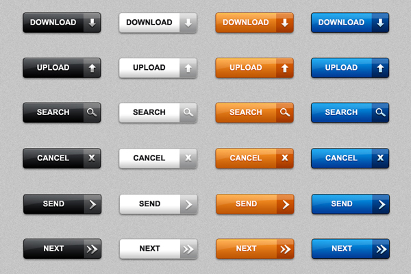 Download web buttons in PSD &#038; PNG (pack of 60)