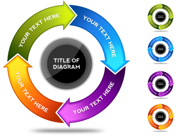 psd download is a circular arrow data flow chart in photoshop psd ...