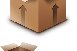 Cardboard box PSD & icon