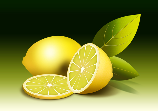 fruit illustration, fresh lemon PSD