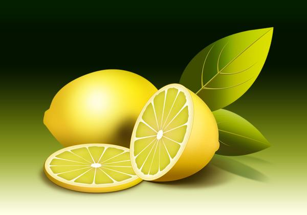 fruit illustration, fresh lemon PSD