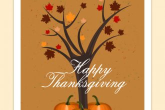 Thanksgiving greeting card PSD