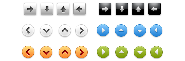Arrow buttons PSD pack