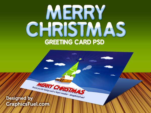 Christmas greeting card PSD