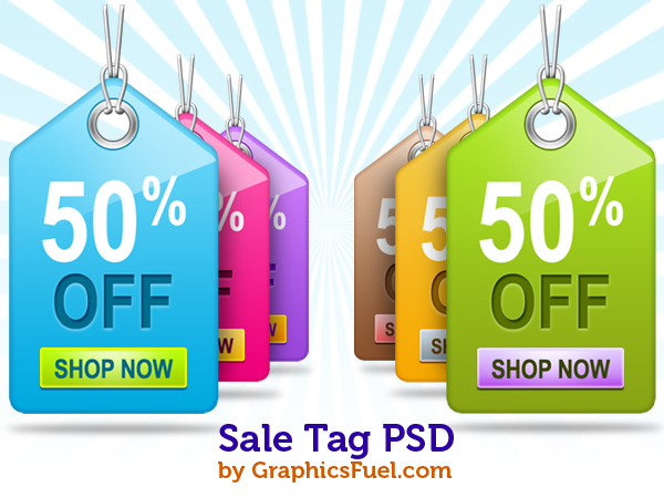 15 Beautiful Yet Free Ribbons PSD Files Sale-tag-psd