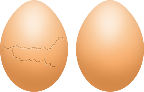 Broken egg with yolk PSD download - GraphicsFuel