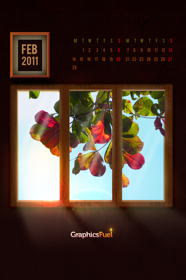 Download Wallpaper Calendar February 2011 files