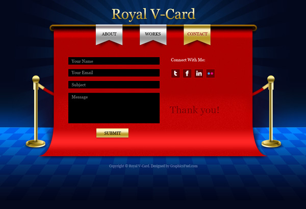 V-Card website PSD templates