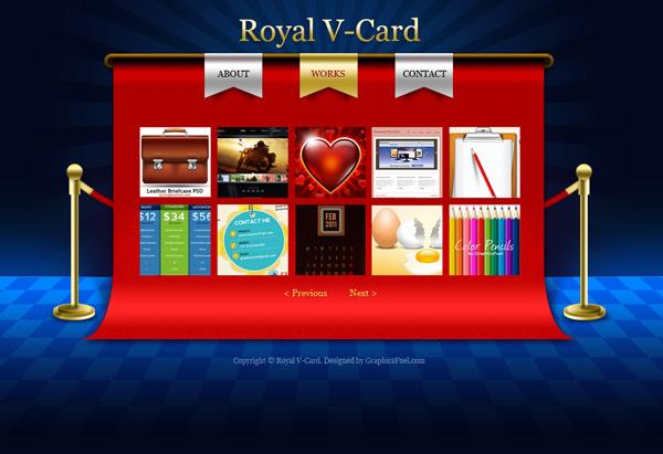 High Quality V-Card website PSD templates