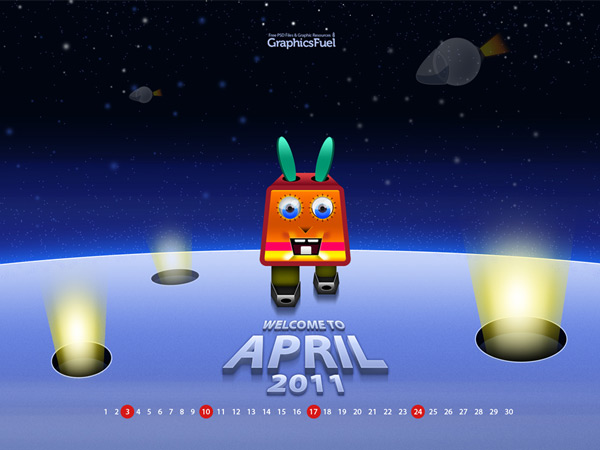 Wallpaper calendar: April 2011