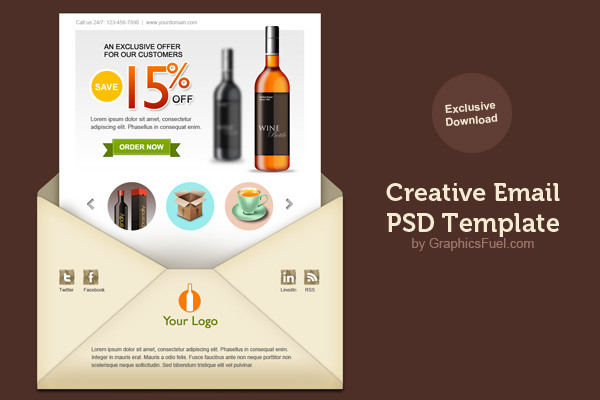 Fresh and Beautiful email newsletter PSD template