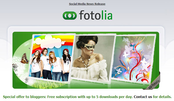 Giveaway: 'Stock Photos for Bloggers' subscription from Fotolia