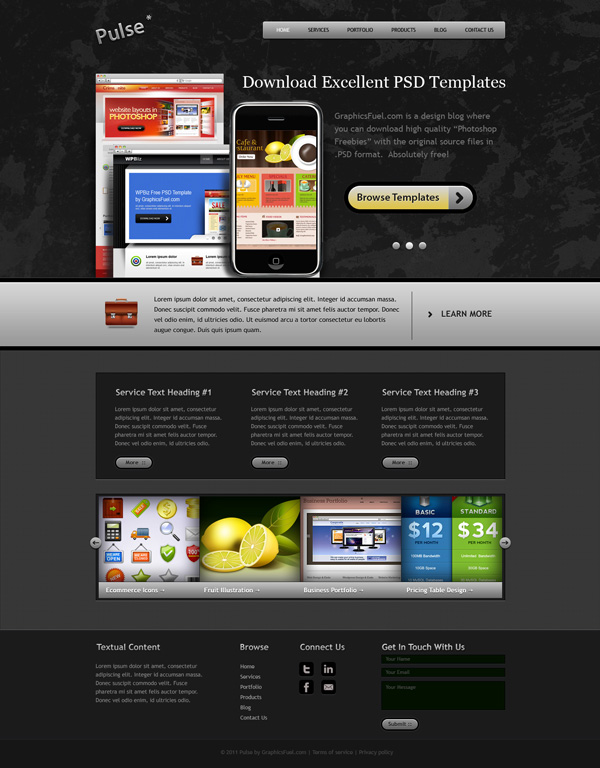 Fresh Website Template PSD Pack