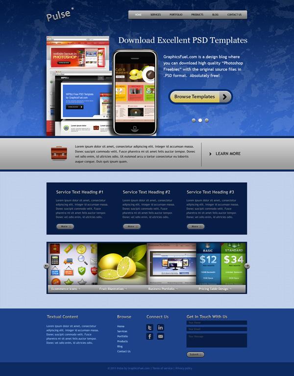 Fresh Website Template PSD Pack
