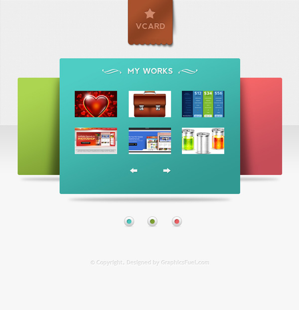 V-Card Minimal website PSD templates Free