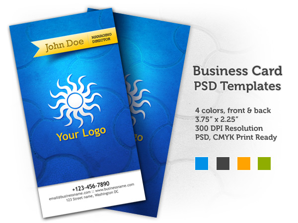 Business Card PSD Templates (front &#038; back)