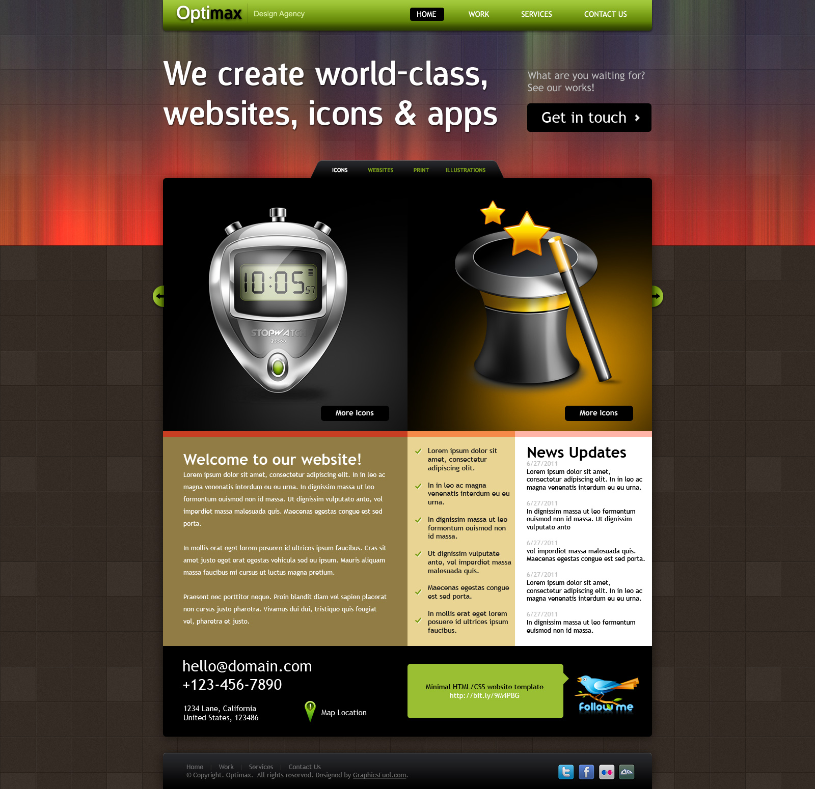 Corporate design agency website design psd