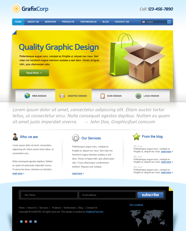 New High Quality Corporate Website PSD template