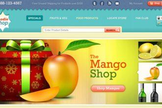 Ecommerce website template design (PSD)