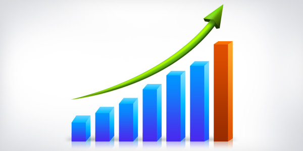 Business growth graph (PSD)