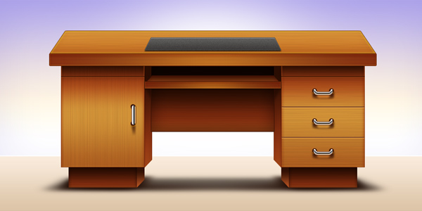 Computer office table design (PSD)
