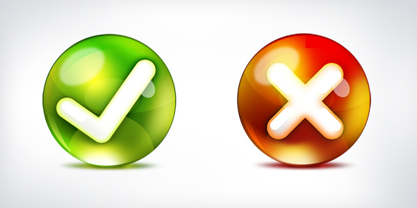 Yes, no icons (PSD)