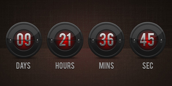Flip clock countdown (PSD)
