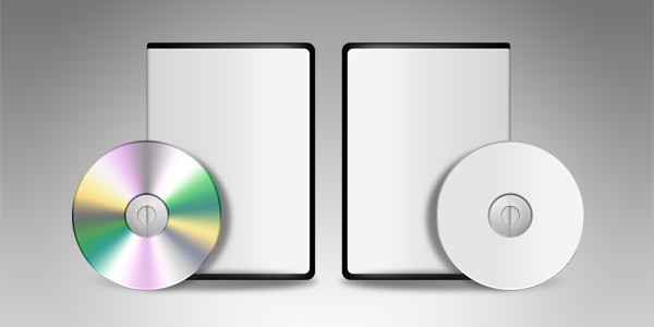 Blank DVD CD template (PSD)