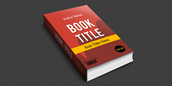 Smart objects 3D book mockup (PSD)