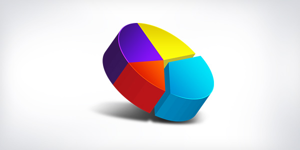 3D pie chart icon
