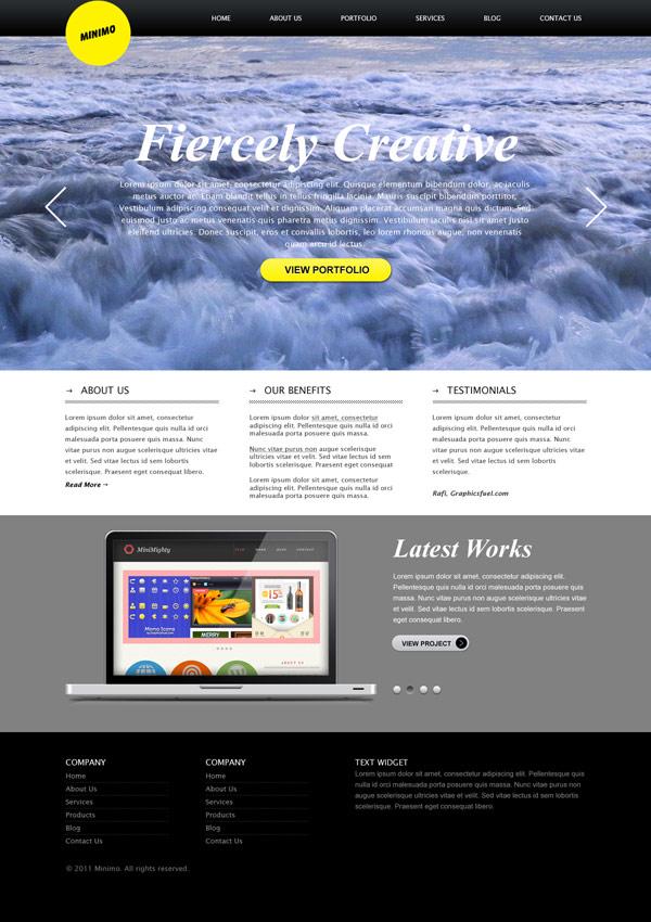 demo website templates