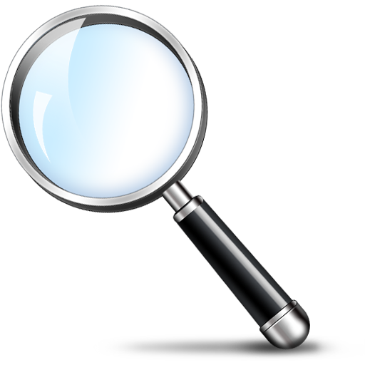 Magnifying glass search icon psd graphicsfuel for Image miroir photoshop
