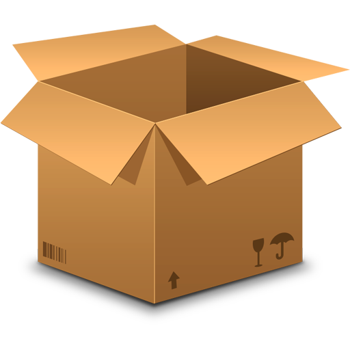 realistic cardboard box icon psd graphicsfuel. Black Bedroom Furniture Sets. Home Design Ideas