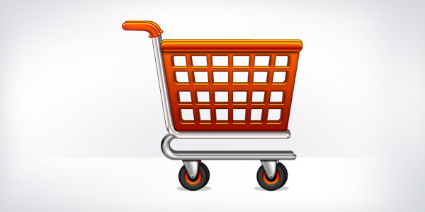 Shopping cart icon (PSD)