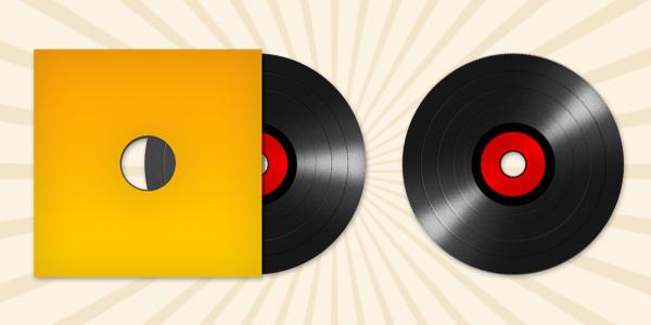 Vinyl record disc icon (PSD)