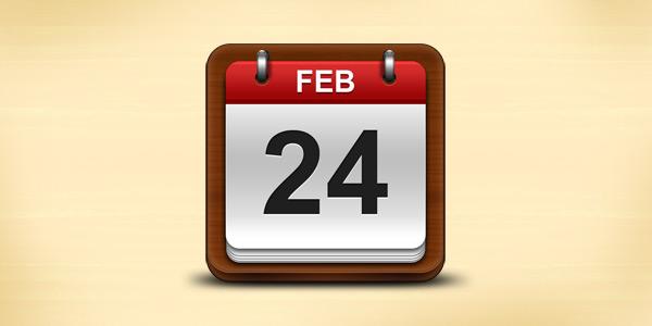 Calendar icon (PSD)