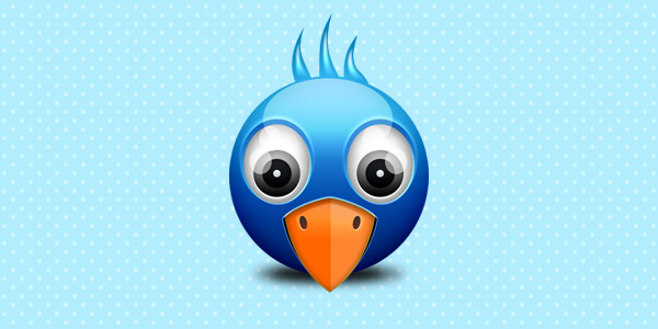 Little Twitter birdie icon (PSD)