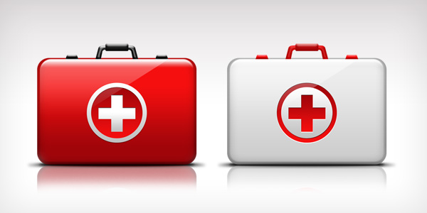 First-Aid medical kit icon (PSD)