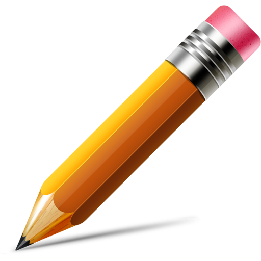 Pencil icon  Vector PSD Writing Icon Png