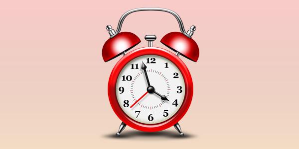 Alarm clock icon (PSD)